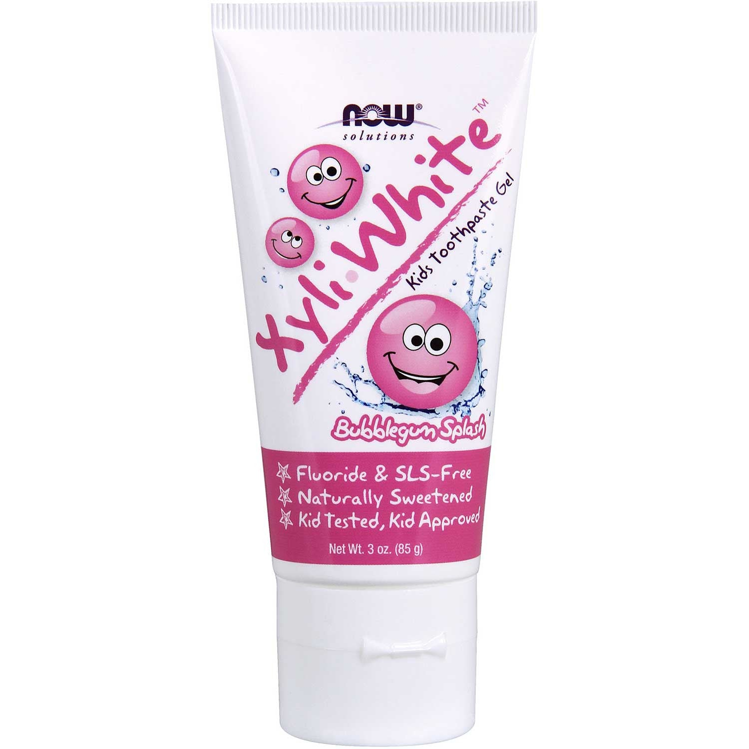 NOW XyliWhite Kids Toothpaste Gel - Bubblegum Splash, 85 g.-NaturesWisdom