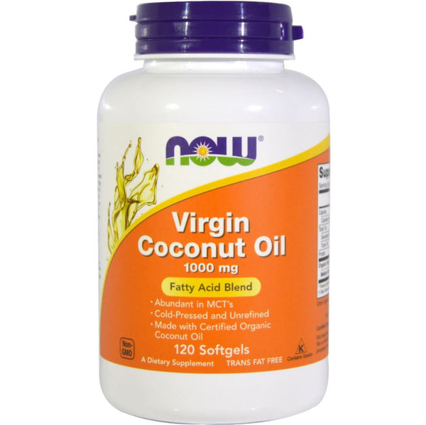 NOW Virgin Coconut Oil 1000 mg, 120 sgls.
