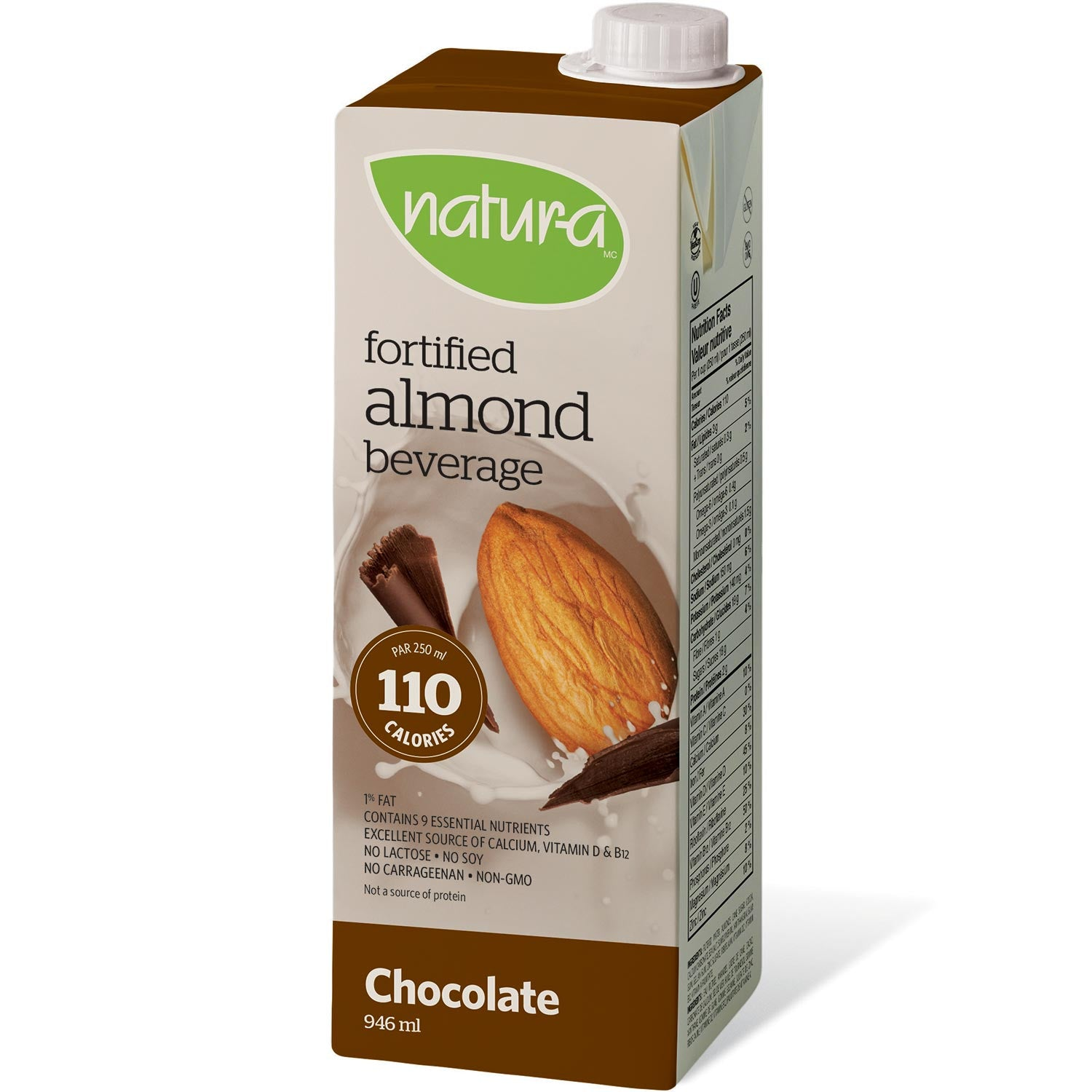 Natur-a Enriched Almond Beverage - Chocolate, 946 ml.-NaturesWisdom