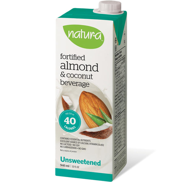 Natur-a Enriched Almond Beverage - Coconut Unsweetened, 946 ml.