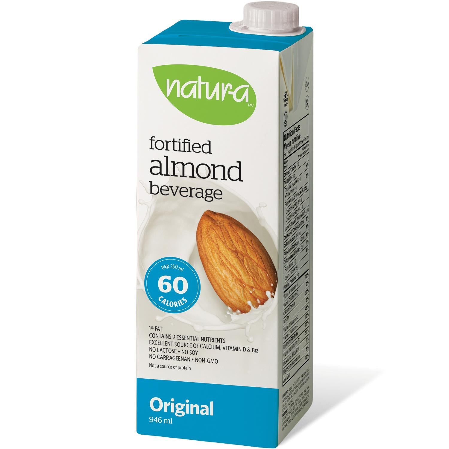 Natur-a Enriched Almond Beverage - Original, 946 ml.-NaturesWisdom