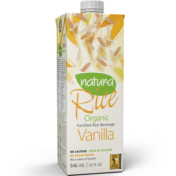 Natur-a Enriched Rice Beverage - Vanilla (Organic), 946 ml.