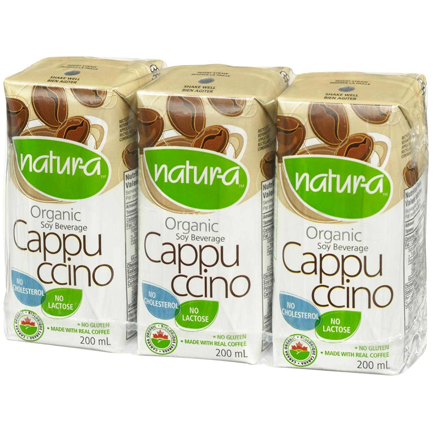 Natur-a Enriched Soy Beverage - Cappuccino (Organic), 200 ml.-NaturesWisdom