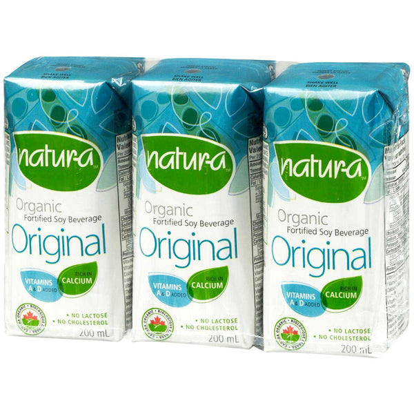 Natur-a Enriched Soy Beverage - Original (Organic), 200 ml.