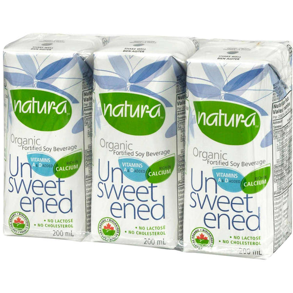 Natur-a Enriched Soy Beverage - Unsweetened (Organic), 200 ml.