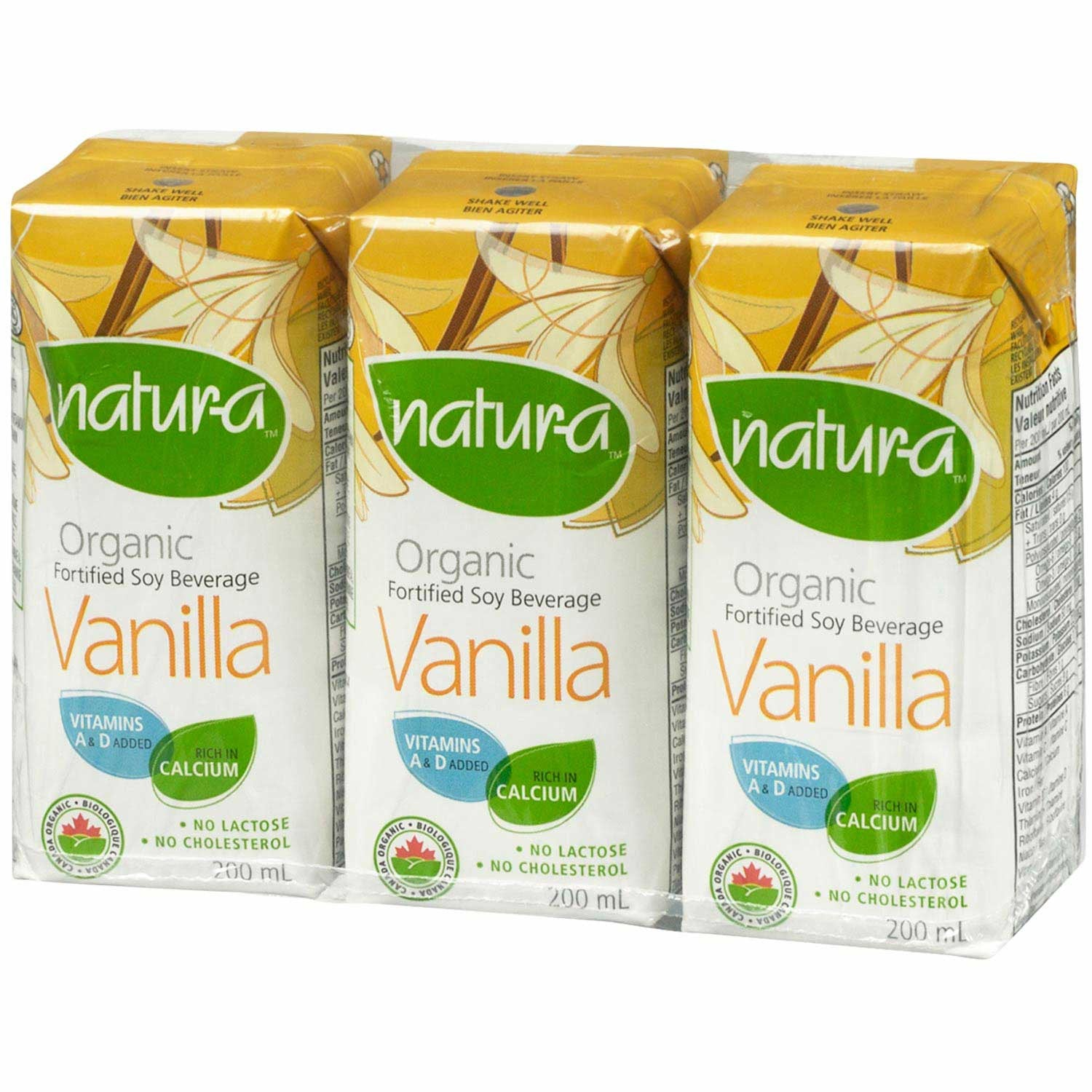 Natur-a Enriched Soy Beverage - Vanilla (Organic), 200 ml.-NaturesWisdom
