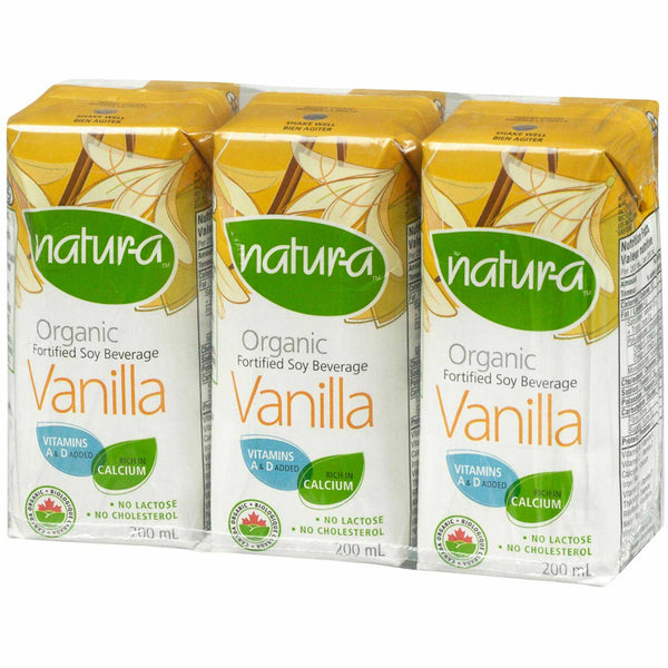 Natur-a Enriched Soy Beverage - Vanilla (Organic), 200 ml.