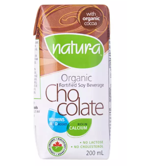 Natur-a Enriched Soy Beverage - Chocolate (Organic), 200 ml. - Single Pack