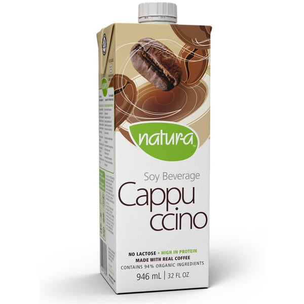 Natur-a Enriched Soy Beverage - Cappuccino (Organic), 946 ml.