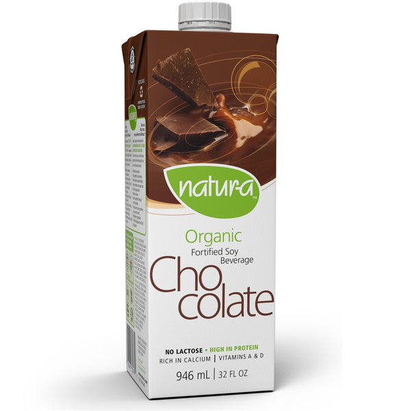 Natur-a Enriched Soy Beverage - Chocolate (Organic), 946 ml.