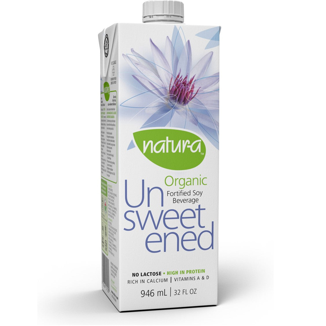Natur-a Enriched Soy Beverage - Unsweetened (Organic), 946 ml.-NaturesWisdom