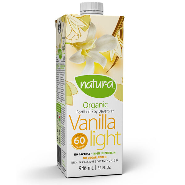 Natur-a Enriched Soy Beverage - Vanilla, Light (Organic), 946 ml.