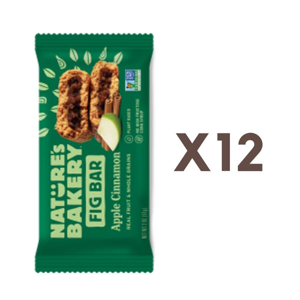 [Bundle of 12] Nature's Bakery Apple Cinnamon Fig Bar (Whole Wheat) 57g. (Expires Nov 2020)