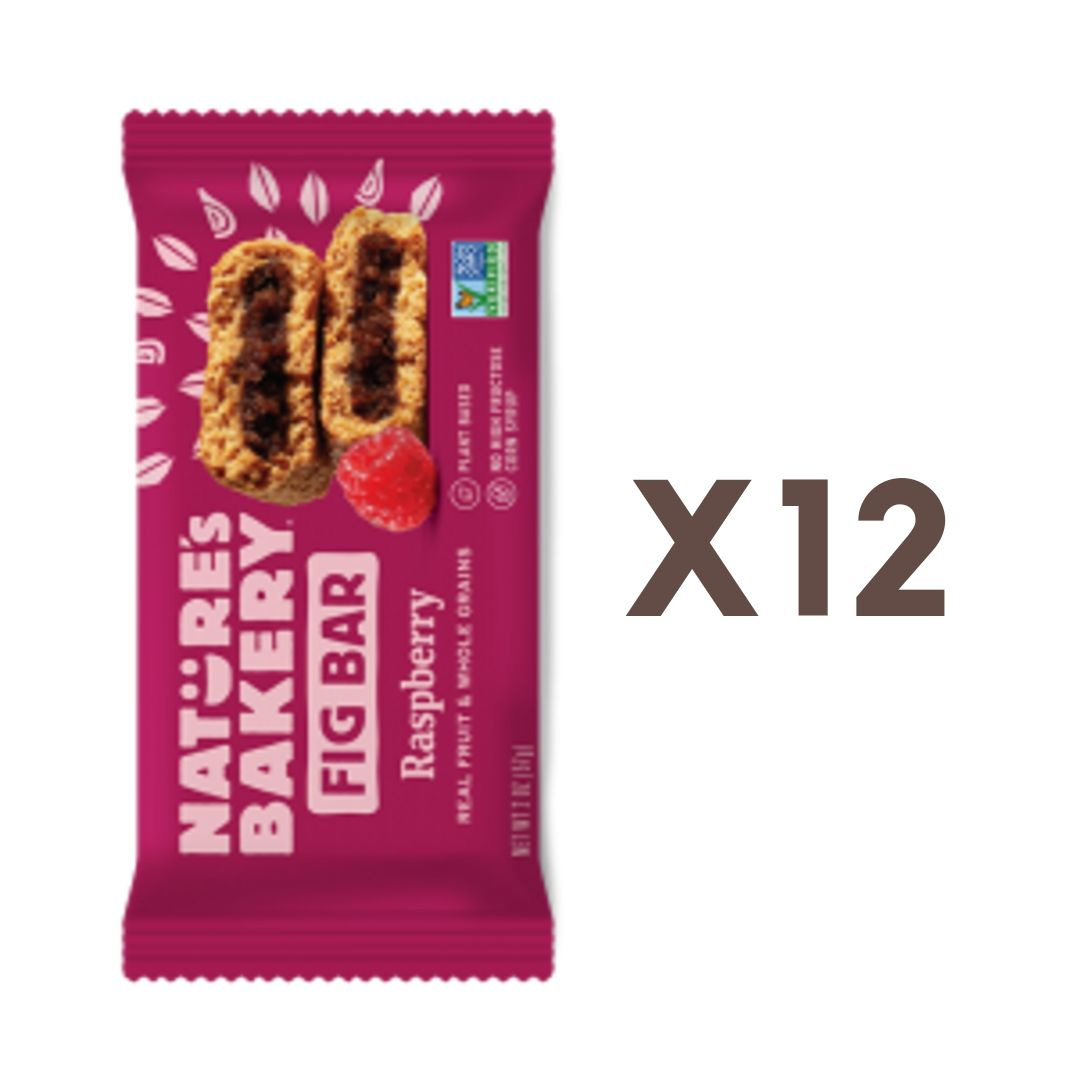 [Bundle of 12] Nature's Bakery Raspberry Fig Bar (Whole Wheat), 57g. (Expires: Nov 2020)