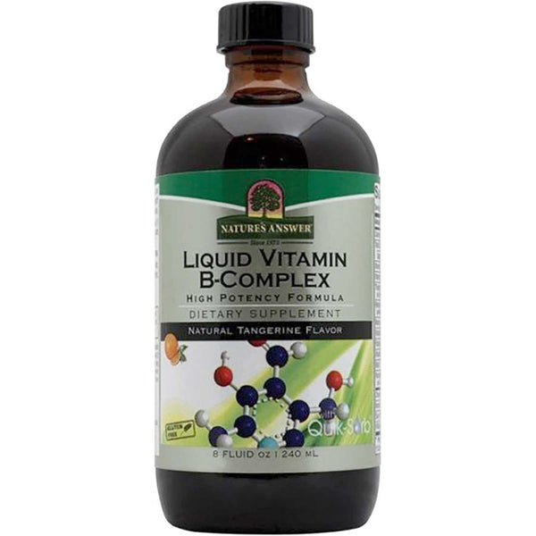 Nature's Answer Platinum Liquid Vitamin B Complex - Natural Tangerine Flavor, 240 ml.