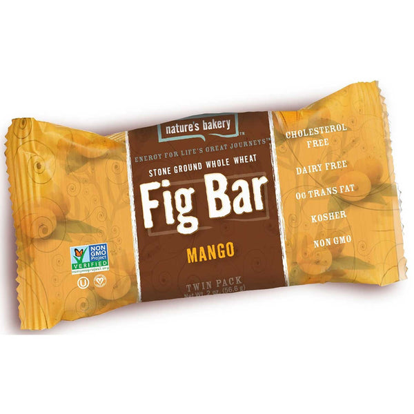 Nature's Bakery Mango Fig Bar (Whole Wheat), 57g.