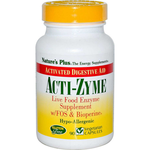 Natures Plus Acti-Zyme (Activated Digestive Aid), 90 caps.