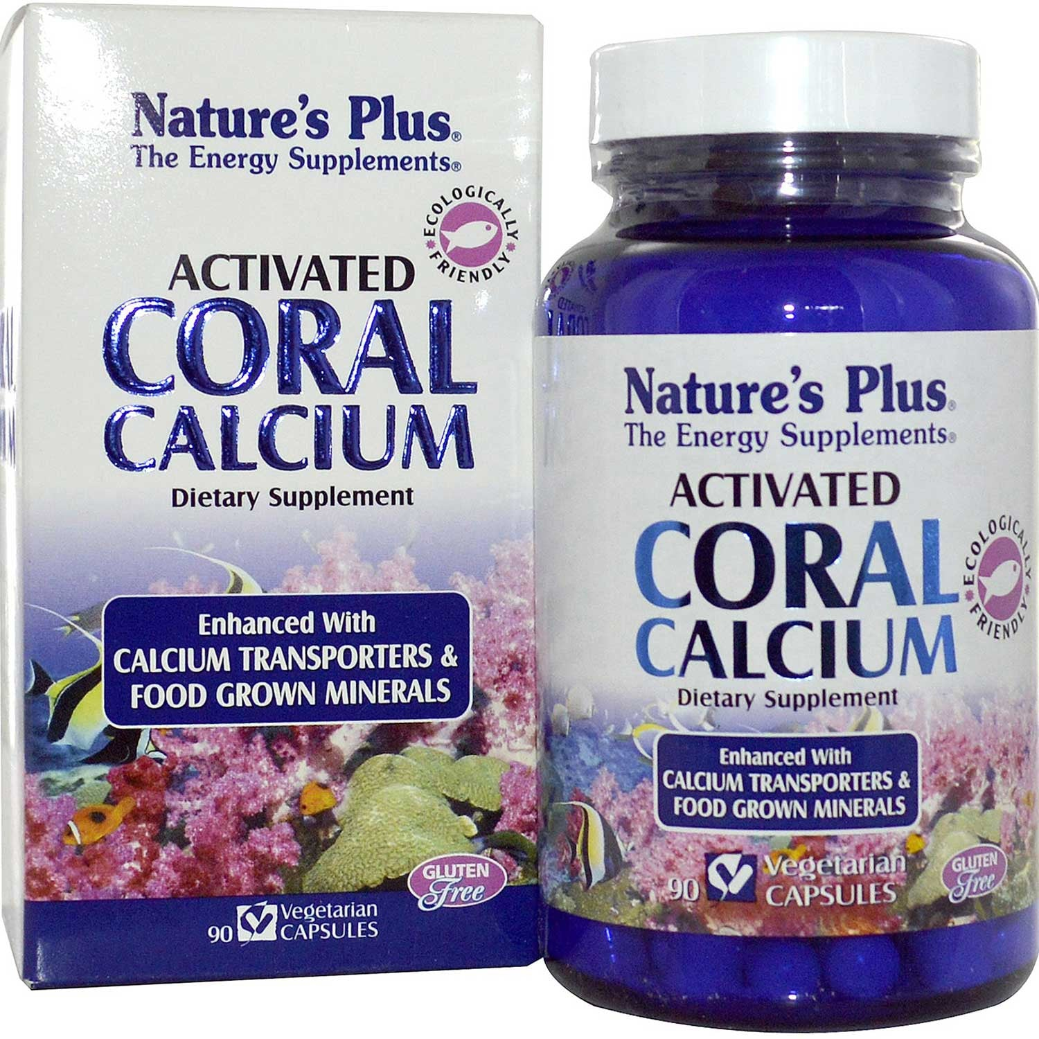Natures Plus Activated Coral Calcium, 90 Vcaps.-NaturesWisdom