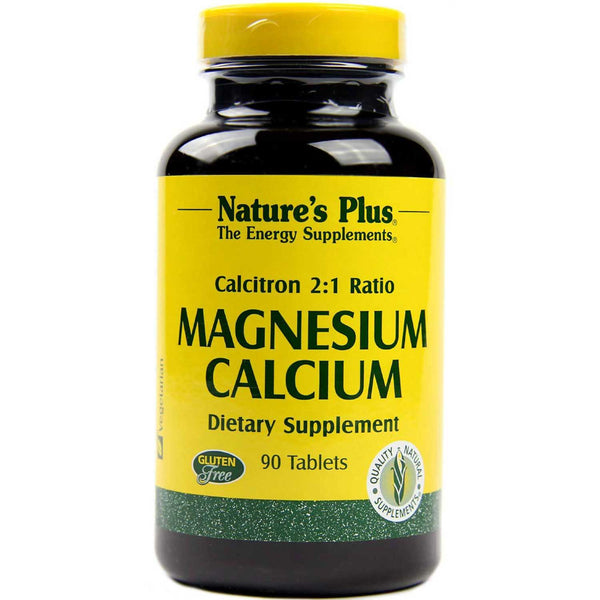 Natures Plus Calcitron 2:1 Ration Magnesium/Calcium, 90 tabs.