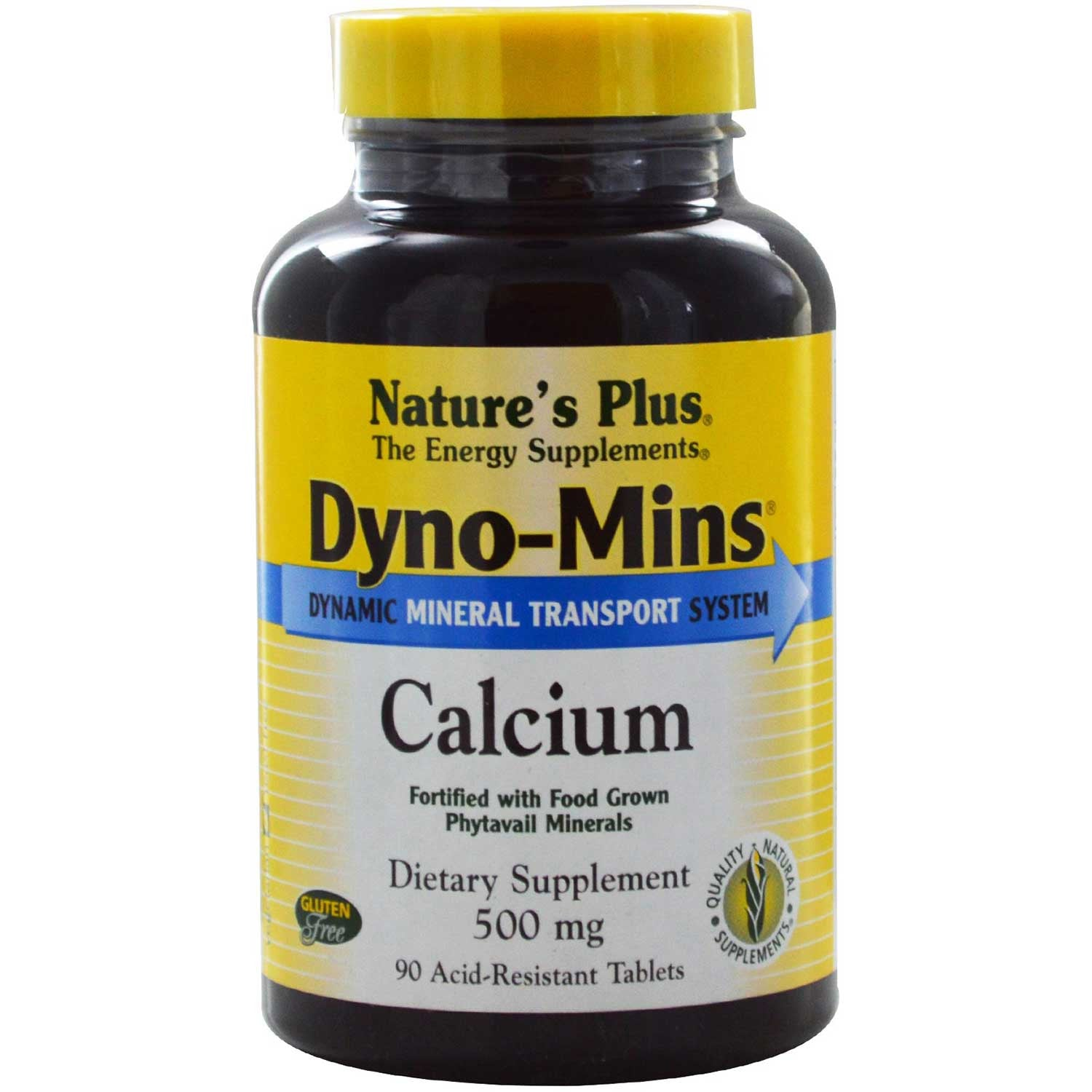 Natures Plus Dyno-Mins Calcium 500 mg, 90 tabs.-NaturesWisdom