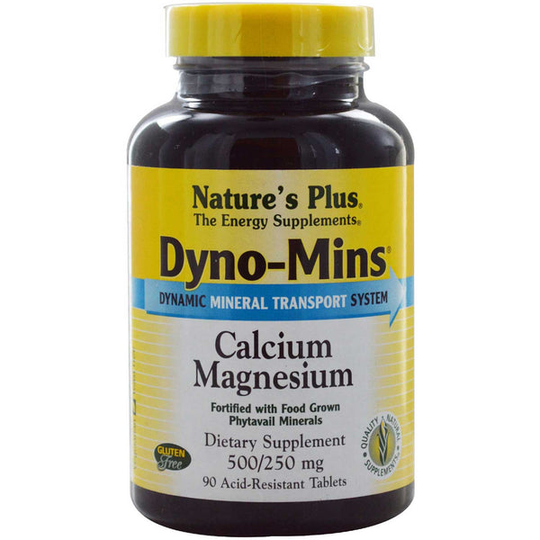 Natures Plus Dyno-Mins Calcium/Magnesium 500/250 mg, 90 tabs.