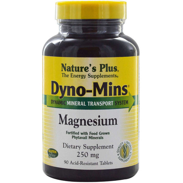 Natures Plus Dyno-Mins Magnesium 250 mg, 90 tabs.