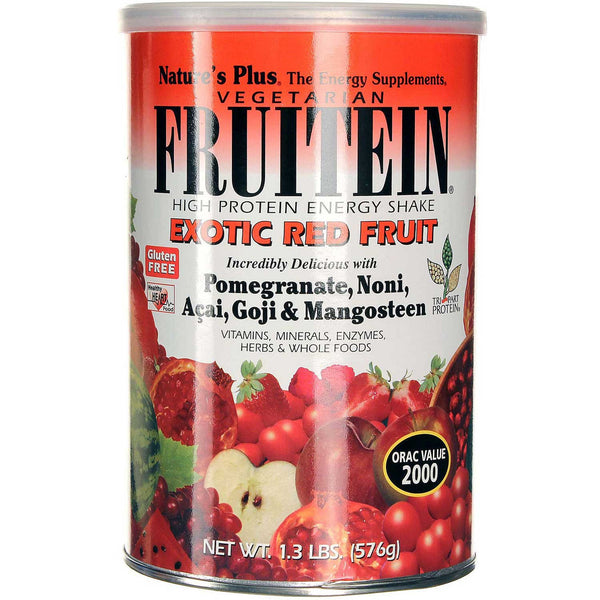 Natures Plus Fruitein Exotic Red Fruit Shake, 504 g