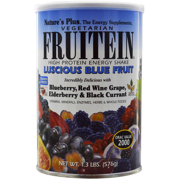 Natures Plus Fruitein Luscious Blue Fruit Shake, 576 g