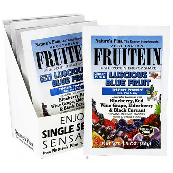Natures Plus Fruitein Luscious Blue Fruit Shake Single Serving Packet, 36 g