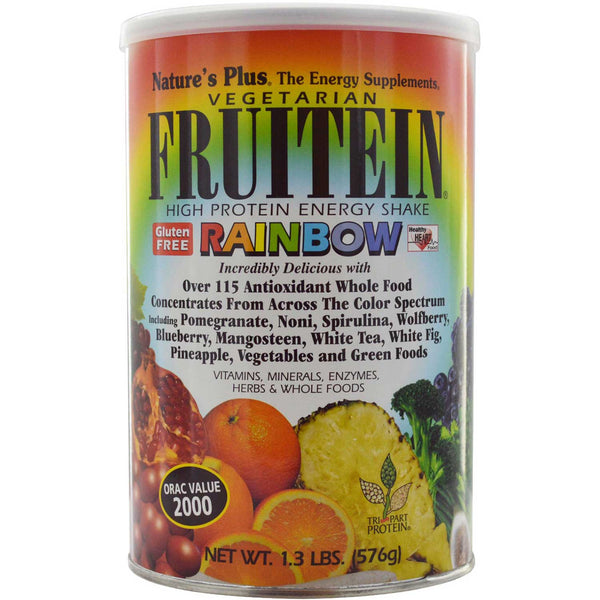 Natures Plus Fruitein Rainbow Shake, 576 g