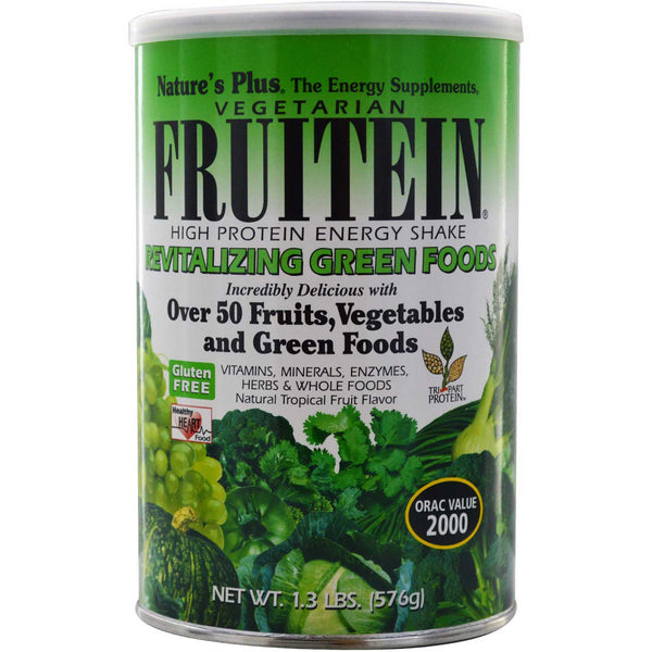 Natures Plus Fruitein Revitalizing Green Foods Shake, 576 g