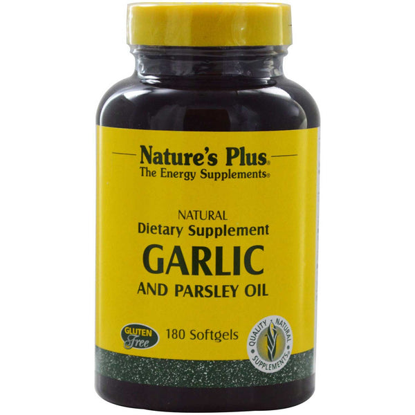 Natures Plus Garlic & Parsley Oil, 180 sgls.