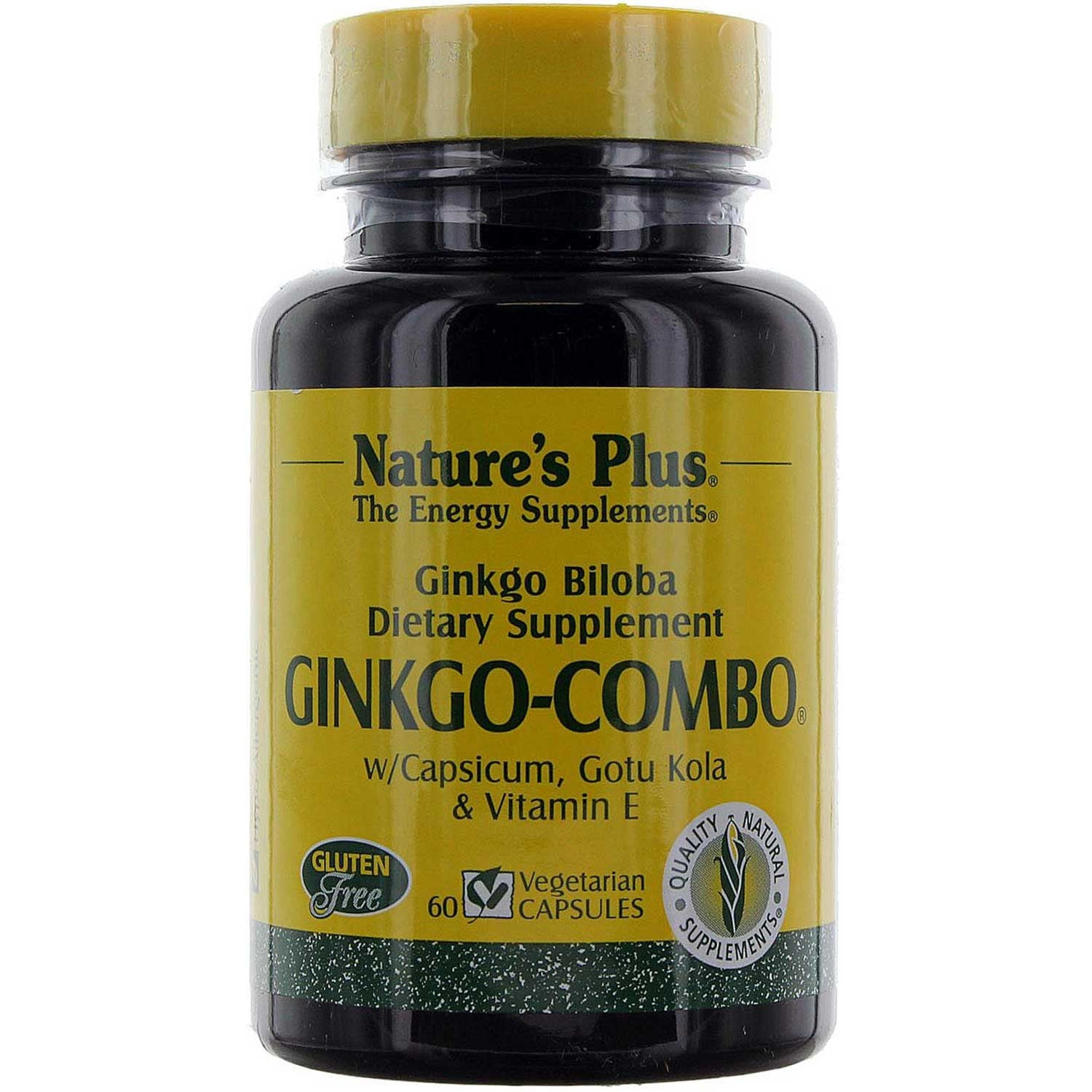 Natures Plus Ginkgo-Combo (Vcaps), 60 caps.-NaturesWisdom