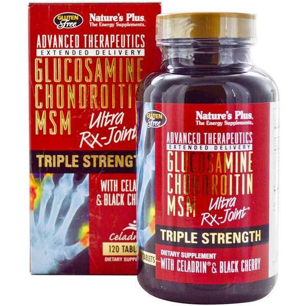 Natures Plus Glucosamine Chondroitin MSM Ultra Rx-Joint - Triple Strength, 120 tabs.