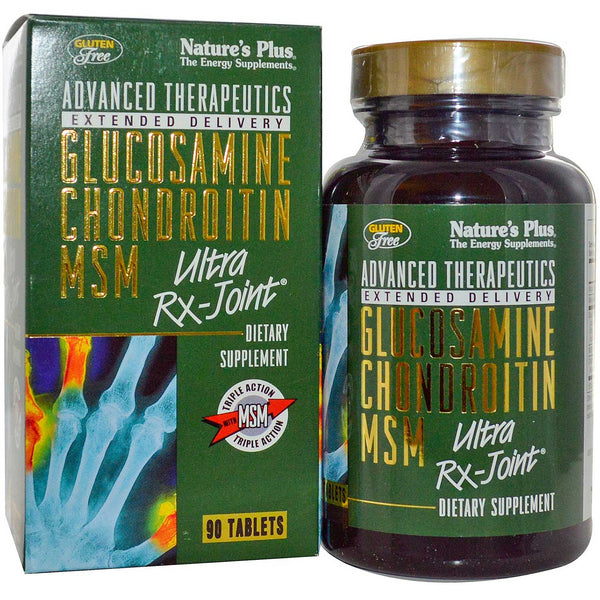 Natures Plus Glucosamine Chondroitin MSM Ultra Rx-Joint, 90 tabs.