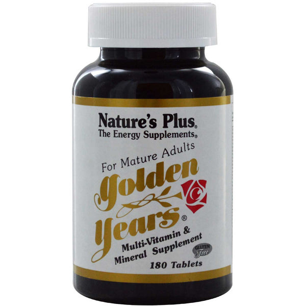 Natures Plus Golden Years (Multiiple for Mature Adults), 180 tabs.