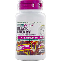 Natures Plus HerbalActives Black Cherry 750 mg w/Activessence (Extended Release), 30 tabs.-NaturesWisdom