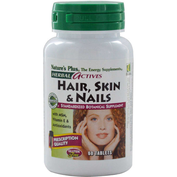 Natures Plus HerbalActives Hair, Skin & Nails, 60 tabs.