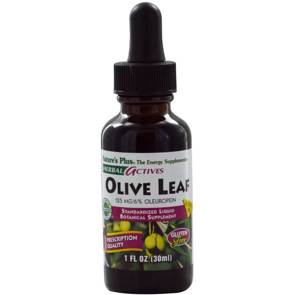 Natures Plus HerbalActives Liquid Olive Leaf Extract A/F (125 mg), 30 ml