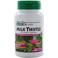Natures Plus HerbalActives Milk Thistle 250 mg (Vcaps), 60 caps.