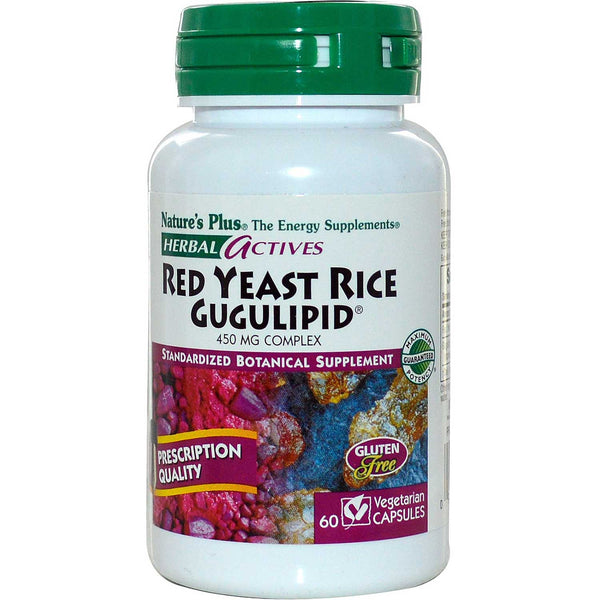 Natures Plus HerbalActives Red Yeast Rice / Gugulipid Complex 450 mg (VCaps), 60 caps.