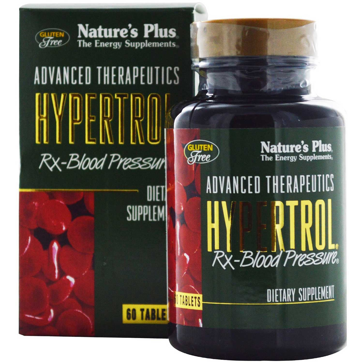 Natures Plus Hypertrol Rx-Blood Pressure, 60 tabs.-NaturesWisdom