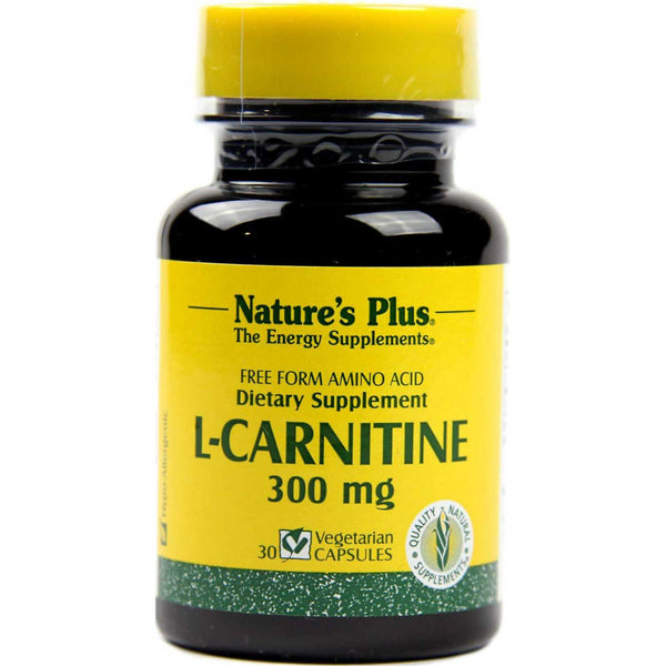 Natures Plus L-Carnitine 300 mg, 30 caps.