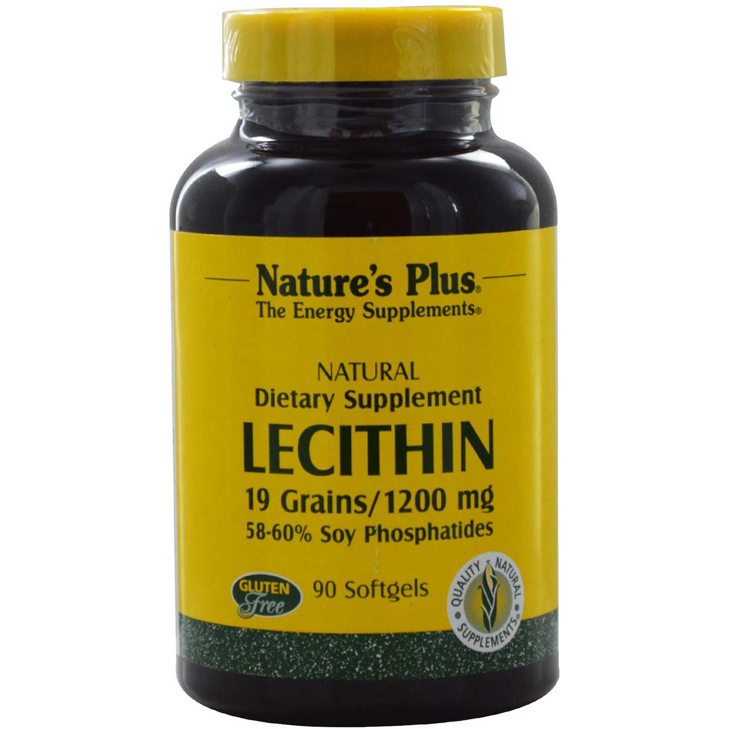 Natures Plus Lecithin 1200 mg, 90 sgls.-NaturesWisdom
