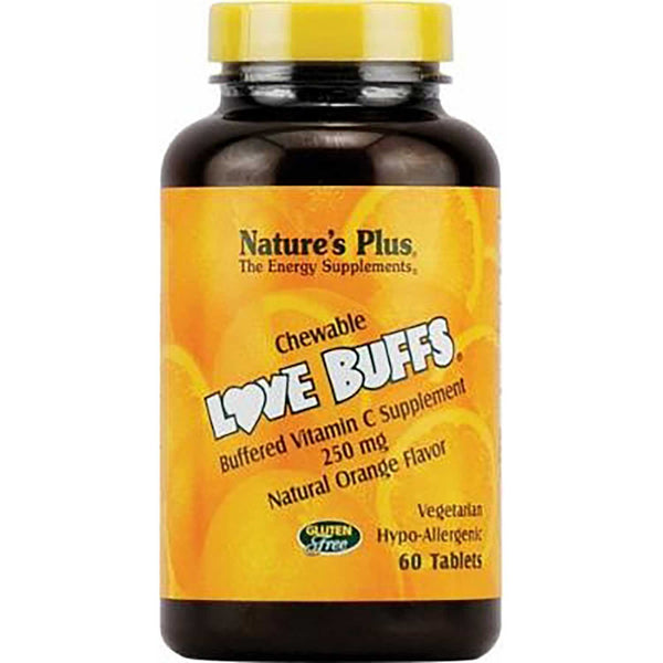Natures Plus Love Buffs Chewable Buffered Vitamin C 250 mg, 60 tabs.