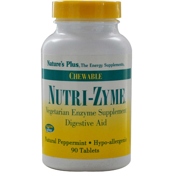 Natures Plus Nutri-Zyme (Chewable Vegetarian Digestive Aid), 90 tabs.