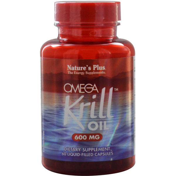 Natures Plus Omega Krill Oil 600mg, 60 Liq-caps.