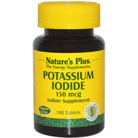Natures Plus Potassium Iodide 150 mcg, 100 tabs.-NaturesWisdom