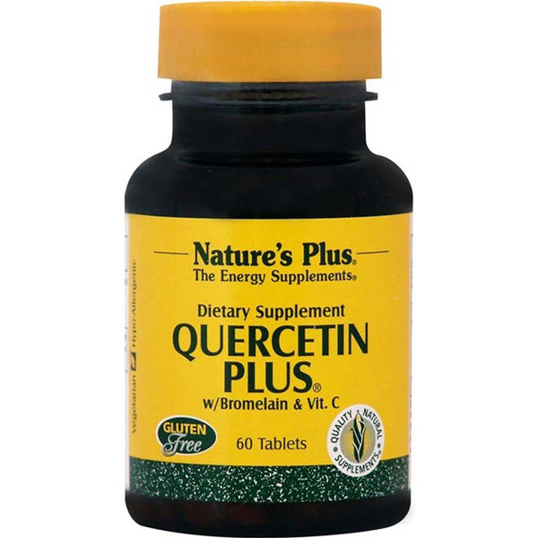 Natures Plus Quercetin Plus with Bromelain & Vitamin C, 60 tabs.