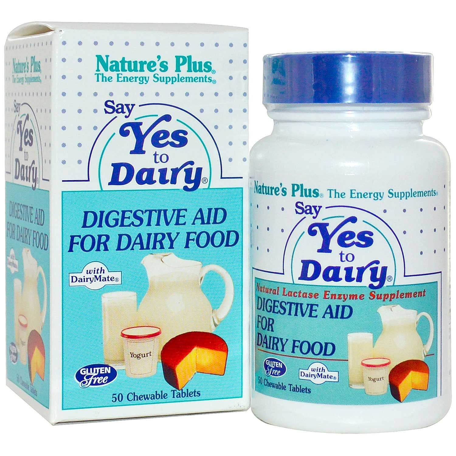 Natures Plus Say Yes To Dairy (Chewables), 50 tabs.-NaturesWisdom